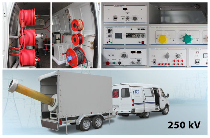 15 November 2018 ETL-35K-250 Cable Test Van for Outdoor Switchgear Equipment servicing