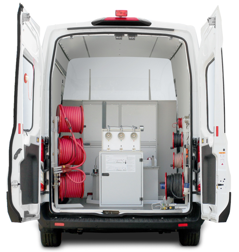 Cable-test-fault-location-system-van